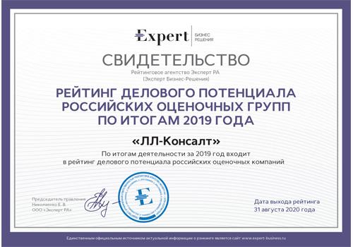 Эксперт РА деловой потенциал 2019